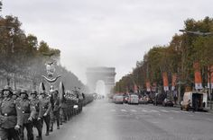 Arc de Triomphe, Paris, June 1940. | 26 Ghostly Images Of World War Two, Blended With The Present
