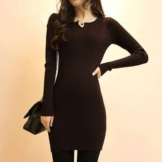 Women Sweater Dress Fashion Knit Long Pullovers Vestidos Sweater Sexy Bodycon Dress High Elastic Sweater Pull Femme