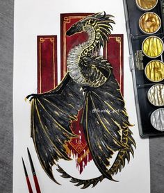 A Wyvern, is a legendary bipedal dragon. Mythology and Fantasy in Animal Paintings. Click the image, for more art by Jonna Hyttinen. Creature Drawings, Animal Drawings, Cool Drawings, Beautiful Drawings, Beautiful Pictures, Fantasy Kunst, Fantasy Art, Fantasy Paintings, Fantasy Animal