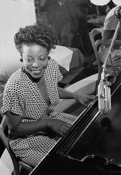 Mary Lou Williams (1910-1981). American jazz pianist, composer, and arranger. Williams wrote hundreds of compositions and arrangements, and recorded more than one hundred records. Photo by William P. Gottlieb.