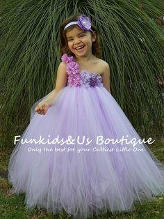 Lavender Lilac Flower girl Tutu Dress by FunkidsandUsBoutique