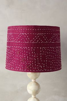 Stitched Kantha Lamp Shade - anthropologie.com on sale $69.95