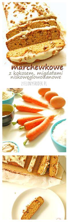 ciasto marchewkowe, bezglutenowe, niskowęglowodanowe, z kokosem i migdałami zamiast mąki