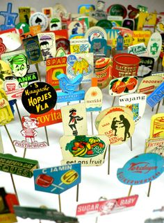 10pcs TINY ADVERTISING PINS 1960s70s by cOveTableCuriOsitiEs, etsy