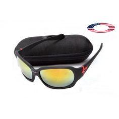 Discount oakleys sunglasses script matte black / fire iridium