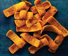 Barbecue corn chips:  100 calories = 18 chips.  This has 1 g fat and 180 mg sodium.