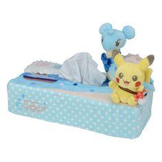Pokemon Center Original Tissue Box Cover Pikachu Laplace Lapras from Japan #PokemonCenter