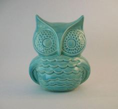Owl Decor Handmade Vintage Ceramic Owl in Turquoise or Color of Choice Color Choices), Home or Garden Decor, Unique Gifts Ceramic Owl, Vintage Ceramic, Vintage Décor, Behr, Owl Bedrooms, Owl Home Decor, Cute Owl, Owl House, Vintage Turquoise