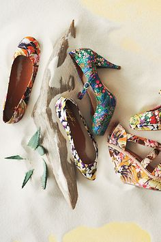 Floral shoes from #Anthropologie #FlowerShop