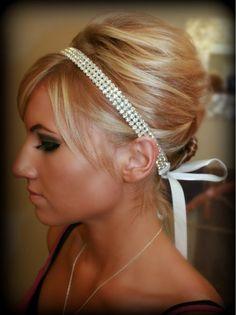 Rhinestone Headband- SPARKLE, Wedding headpiece, headband, Accessories, Bridal, Wedding, Hair Accessory, Bridal Accessory