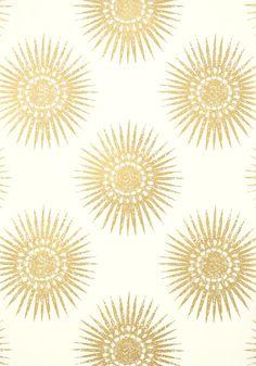 Bahia Metallic Gold On Cream T35143 Collection Graphic Resource From Thibaut Aqua Wallpaper