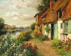 jandirafeijo:  Louis Aston Knight(1873 – 1948) was the son of the American expatriate artist, Daniel Ridgway Knight. Born in Paris in 1873,...