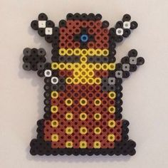 Dalek Doctor Who perler beads  by knoxy_beads