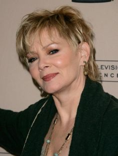 Jean Smart's tousled blonde shag features shorter, face-framing layers and bangs. The behind-the-ear styling also highlights her pretty cheekbones. This is a great layered short hairstyle for fine, straight hair to add volume and body.More Hairstyles for Older Women:Short Haircuts Over 50Bob Hairsty...