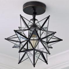 Moravian Star Ceiling Light blackened_bronze