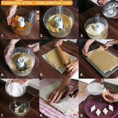 Calissons d'Aix - tutoriel technique en photos pas à pas - Recettes de cuisine de Provence