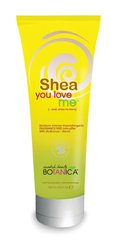 Shea You Love Me Swedish Beauty's #1 Best Seller in 2010 - Moisture Intense Fragrance Free Intensifier with BioBronze