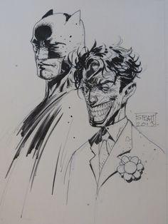 Batman and Joker by Stephen Platt