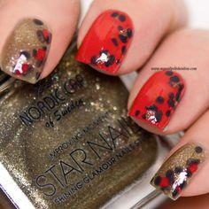 - Day 13 Animal Print - My Nail Polish Online Indian Nail Designs, Nail Art Designs, Leopard Nails, Leopard Spots, Indian Nails, Nail Polish Online, Nail Art Photos, Glamour Nails, Uñas Fashion