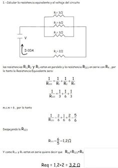 circuitos mixtos ejercicios Physics Notes, Physics And Mathematics, Electronic Engineering, Electrical Engineering, Effective Study Tips, Physics Questions, Home Electrical Wiring, Electronics Basics, Cool Tech