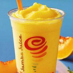 Jamba Secret Menu - Jamba Juice Piña Colada - 12 oz. Pineapple Juice / Add some Coconut / 1 Scoop Pineapple Sherbet / 1 Scoop Frozen Yogurt / 1 Scoop of Banana / Ice