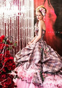 Coupled with wavy skirt and hat bride that will make the bride look perfect with Stella de Libero Wedding dresses 2014 2015. Description from bmodish.com. I searched for this on bing.com/images