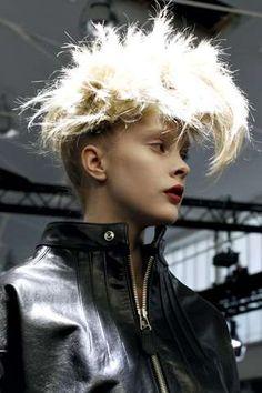Junya Watanabe Rocks Punk Subculture with Massive Mohawks #hairstyles trendhunter.com