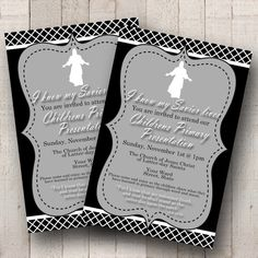 LDS 2015 Primary Program Invite- I know my Savior lives- vintage style- Custom Invitation- 4x6 LDS  2015 Primary Program Invite I know my by bowpeepcreations