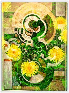 Digital art Photo Collages, Decoupage, Dandelion, Digital Art, Symbols, Icons, Taraxacum Officinale, Dandelions, Photography Collage