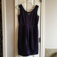 Simply Vera Wang Jeweled Dress 100% polyester fit & flare dress great for dressing up. Has pockets and jeweled neckline. 35 inches in length. Simply Vera Vera Wang Dresses