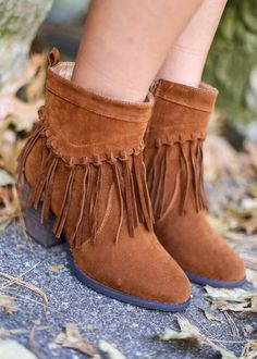 Camel Suede Booties, $49.99, heels, wedge, wedges, peep toe, fall, fall fashion, fall style, fall shoes, shoe, booties, boots, sale, wedged booties, brown shoes, tan shoes, camel booties, camel boots, tan fringe, fringe booties, fringe boots, ankle boots