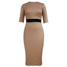 Hochwertige mode frauen dress nette dot druck rundhals lange kleider elegante damen abendgesellschaft bodycon dress robe femme //Price: $US $23.99 & FREE Shipping //     #abendkleider
