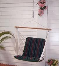 Palmetto Quilted Hammock Chair – Tricolor Stripe