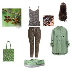 """""""Untitled #540"""" by ilona-giladi ❤ liked on Polyvore featuring Melissa McCarthy Seven7, USA Pro, Sperry, NOVICA and Mayamiko"""