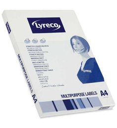 Lyreco A4 210x297 mm 100 arkkia 1-osainen monitoimitarra - Saa olla muukin merkki, kunhan on ns 1 tarrainen, eli ei valmiita leikkauksia! - 8,90e
