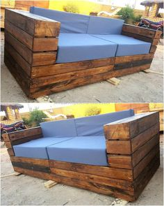 Make use of wooden pallets to design this wonderful couch for your living room. You also need some foam and cloth to make the seat.