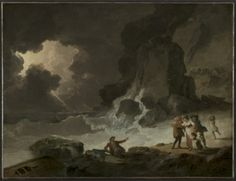 A Storm Behind the Isle of Wight by Julius Caesar Ibbetson.  Collection CMA, 1948.461