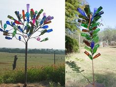 Wine Bottle Tree - Style on left is branch structure that looks best.