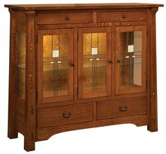 Manitoba High Buffet from DutchCrafters Amish Furniture Mission Furniture, Craftsman Furniture, Amish Furniture, Cheap Furniture, Rustic Furniture, Living Room Furniture, Modern Furniture, Furniture Design, Furniture Hardware