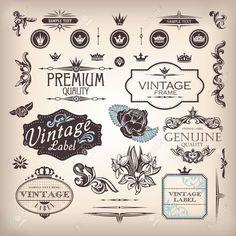 Vector Conjunto De Elementos De Diseño Y Decoración De Página Ilustraciones Vectoriales, Clip Art Vectorizado Libre De Derechos. Image 14924651.