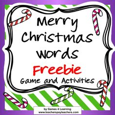 Here are some of my favorite holiday freebies for language arts for grades They include sight words, comprehension, and class buildin. Christmas Word Search, Christmas Words, Christmas Games, Christmas Ideas, Happy Holidays Quotes, Free Word Games, Christmas Language Arts, Christmas Worksheets, Making Words