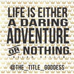 #midweekmotivation #humpday #adventure #thetitlegoddess #thetitlegirls #nuworldtitle by the_title_goddess