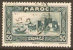 French Morocco 1933 50c Deep blue-green. SG180.