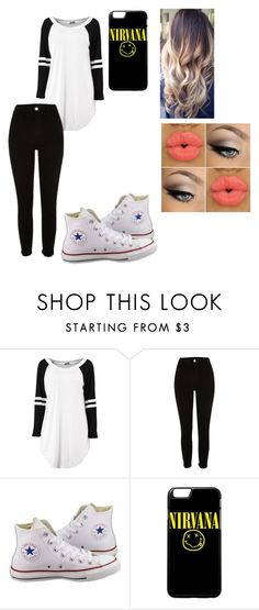 """""""School basketball game"""" by kiana-champ ❤ liked on Polyvore featuring River Island and Converse"""