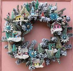 Putz Houses Wreath