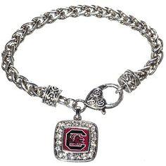 USC Gamecocks Silver Tone Rope Bracelet