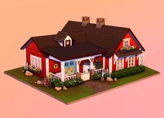 The Sims, Sims Cc, Sims 4 Stories, Sims 4 House Plans, Sims 4 House Design, Sims 4 Gameplay, Sims Building, Sims 4 Build, House Illustration