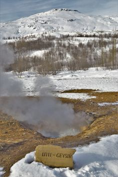 Little Geyser in the Golden Circle, Iceland