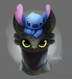 Toothless and Stitch      ❤️