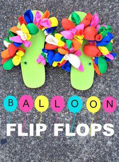 DIY Balloon Flip Flops